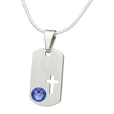 September Cross Cremation Pendant