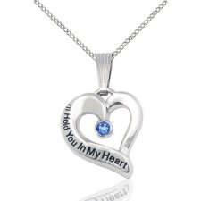 September Silver Heart Keepsake
