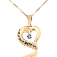 September Yellow Gold Heart Keepsake