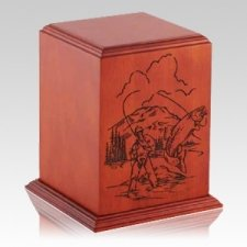 Serene Fisher Wood Cremation Urn