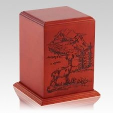 Serene Lands Wood Cremation Urn