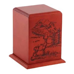 Serene Lands Wood Cremation Urn