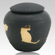 Shale Silhouette Cat Urn