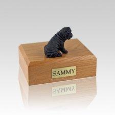 Shar Pei Black Small Dog Urn