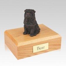 Shar Pei Bronze Large Dog Urn
