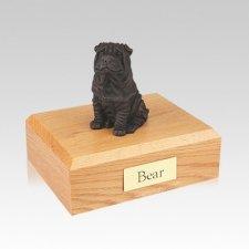 Shar Pei Bronze Medium Dog Urn