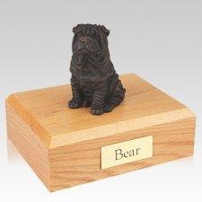Shar Pei Bronze Dog Urns
