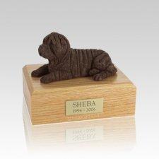 Shar Pei Chocolate Medium Dog Urn