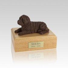 Shar Pei Chocolate Small Dog Urn