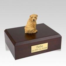 Shar Pei Tan Large Dog Urn