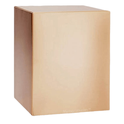 Sheet Metal Bronze Cremation Urn