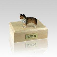Sheltie Sable Small Dog Urn