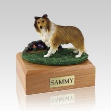 Sheltie Sable Standing Large Dog Urn