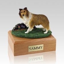 Sheltie Sable Standing X Large Dog Urn