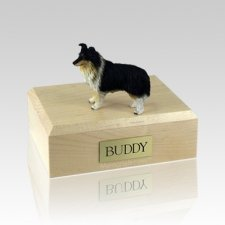 Sheltie Tri-Color Large Dog Urn