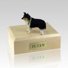 Sheltie Tri-Color X Large Dog Urn