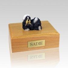 Shih Tzu Black & White Large Dog Urn