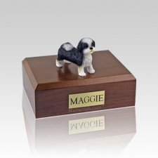Shih Tzu Black & White Puppycut Medium Dog Urn