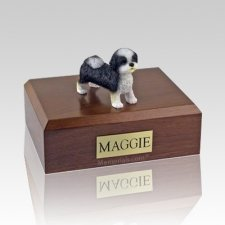 Shih Tzu Black & White Puppycut Dog Urns