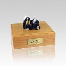 Shih Tzu Black & White Small Dog Urn