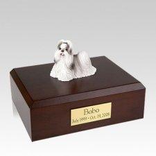 Shih Tzu Black & White Walking Large Dog Urn