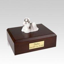 Shih Tzu Black & White Walking Medium Dog Urn