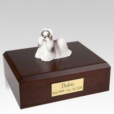 Shih Tzu Black & White Walking X Large Dog Urn