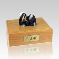 Shih Tzu Black & White X Large Dog Urn