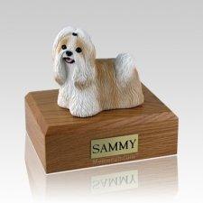 Shih Tzu Gold & White Large Dog Urn