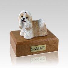 Shih Tzu Gold & White Medium Dog Urn