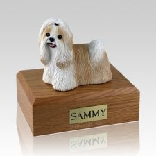 Shih Tzu Gold & White Dog Urns