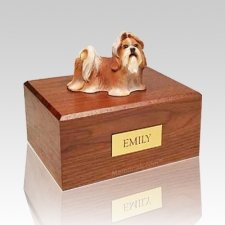 Shih Tzu Red & White Dog Urns