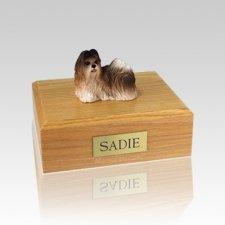 Shih Tzu Rust Red & White Medium Dog Urn