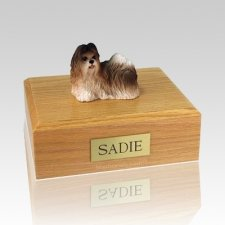 Shih Tzu Rust Red & White Dog Urns