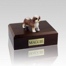 Shih Tzu Tan Puppycut Large Dog Urn