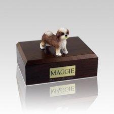 Shih Tzu Tan Puppycut Medium Dog Urn