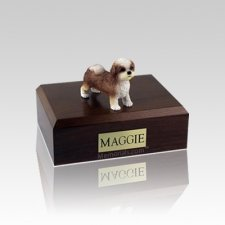 Shih Tzu Tan Puppycut Small Dog Urn
