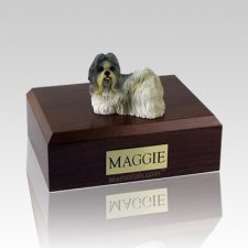 Shih Tzu White & Gray Dog Urns