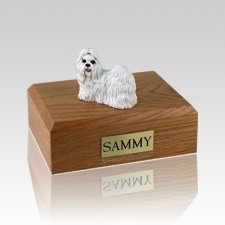 Shih Tzu White Large Dog Urn