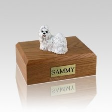 Shih Tzu White Medium Dog Urn