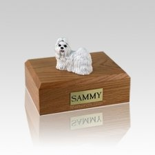 Shih Tzu White Small Dog Urn
