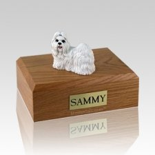 Shih Tzu White X Large Dog Urn