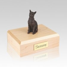 Siamese Bronze Medium Cat Cremation Urn