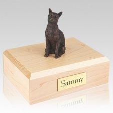 Siamese Bronze X Large Cat Cremation Urn