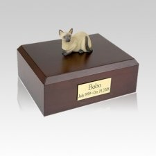 Siamese Laying Medium Cat Cremation Urn