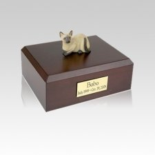 Siamese Laying Small Cat Cremation Urn