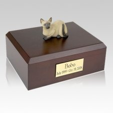 Siamese Laying Cat Cremation Urns