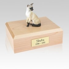 Siamese Seal Point Large Cat Cremation Urn