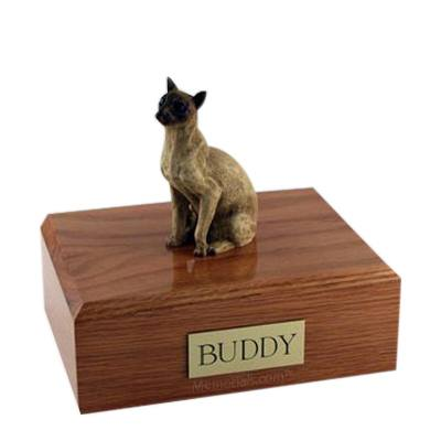 Siamese Tan Large Cat Cremation Urn