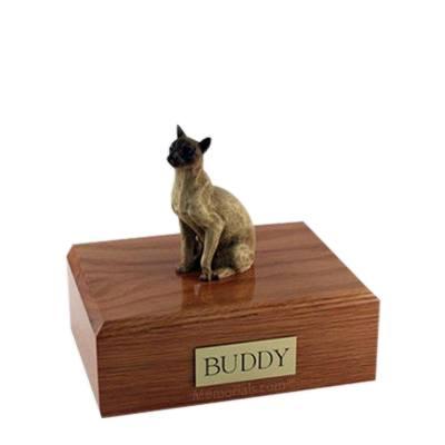 Siamese Tan Small Cat Cremation Urn